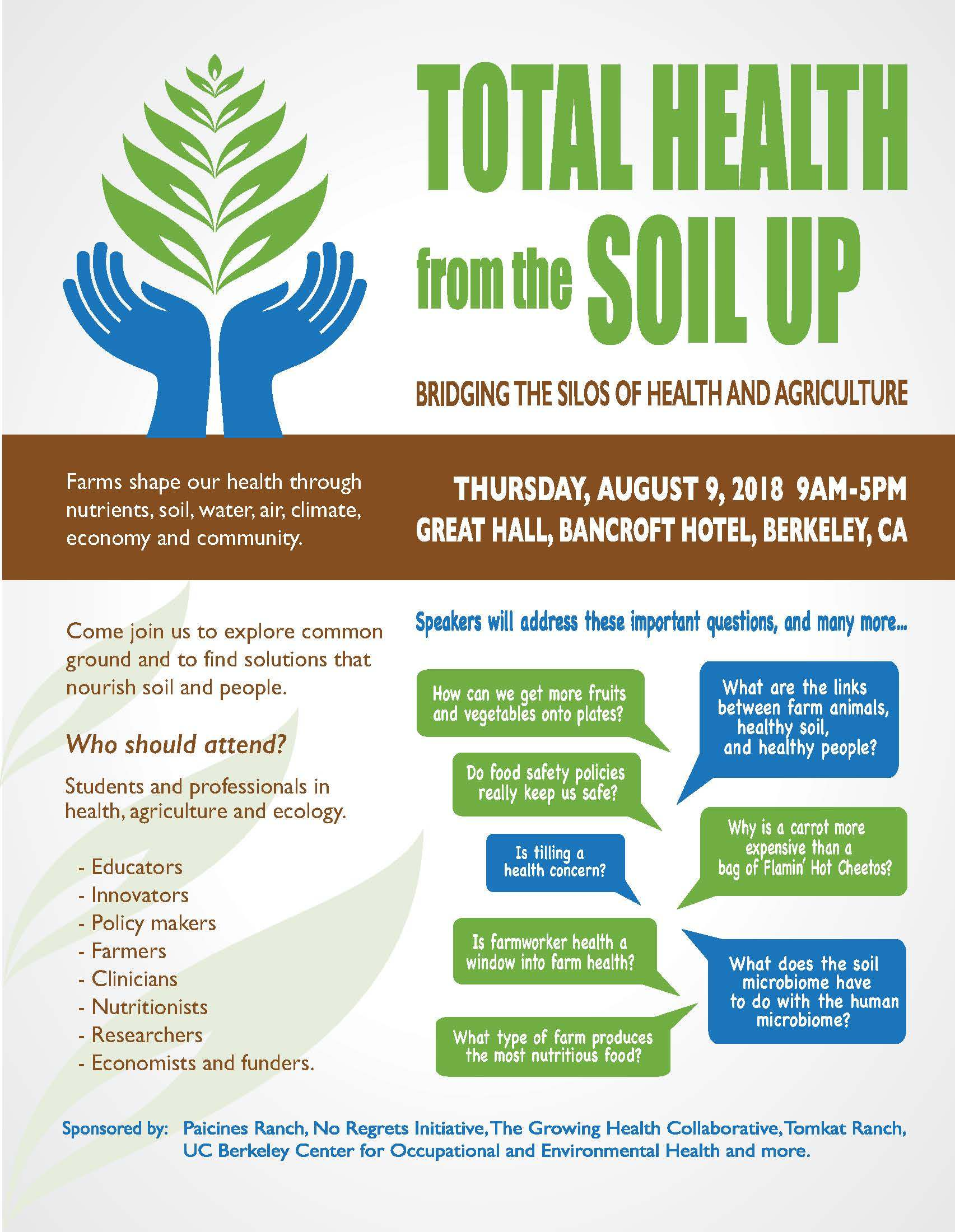 Total health from the soil up save the date flyer